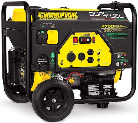 Champion 3800-Watt Dual Fuel RV Ready Portable Generator for Small Food Truck