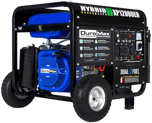 DuroMax XP12000EH Dual Fuel Electric Start Portable Generator for food truck