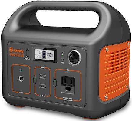 Jackery Portable Power Station Explorer 240, 240Wh Backup Lithium Battery, 110V:200W Pure Sine Wave AC Outlet, Solar Generator
