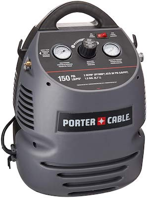 PORTER-CABLE CMB15 (1.5 Gallon) Oil-Free Fully Shrouded : Hand Carry Compressor Kit with 25' Hose
