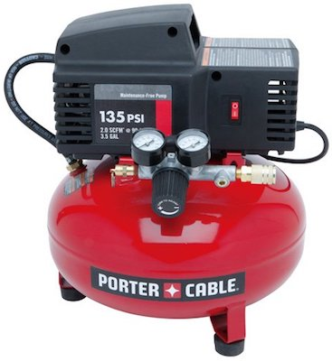 PORTER-CABLE PCFP02003 3.5-Gallon 135 PSI Pancake Compressor for truck tire