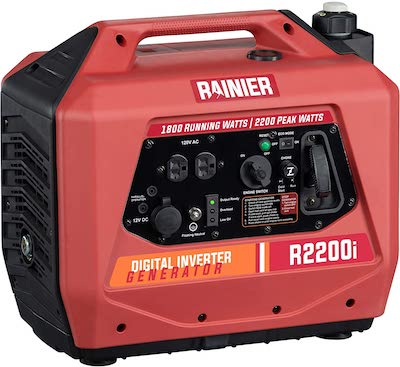 Rainier Outdoor Power Equipment R2200i Super Quiet Portable Inverter Generator